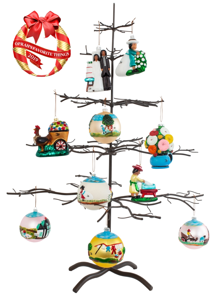 The Clementine Hunter Christmas Ornament Collection